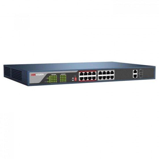 PoE комутатор Hikvision DS-3E0318P-E(B), 18 порта