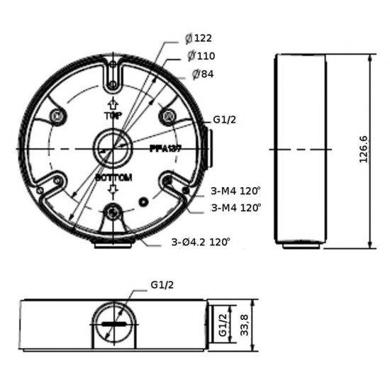 Dahua PFA137 монтажна кутия