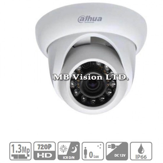 2.1MP HD-CVI камера Dahua HAC-HDW2221M, 3.6mm, IR 30m
