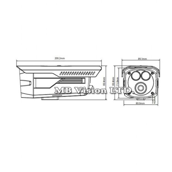 1MP HDCVI камера Dahua HAC-HFW1100D-B