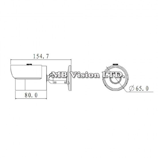 4.1MP HDCVI Dahua HAC-HFW2401S, 3.6mm, IR 30м