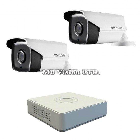 Система за видеонаблюдение с 2 Full HD камери + Hikvision DVR