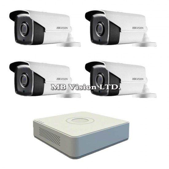 Система за видеонаблюдение с 4 Full HD камери + Hikvision DVR