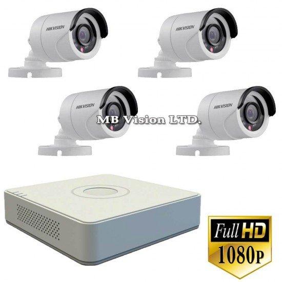 Промо оферта: 4 Full HD камери и 4-канален Full HD DVR Hikvision