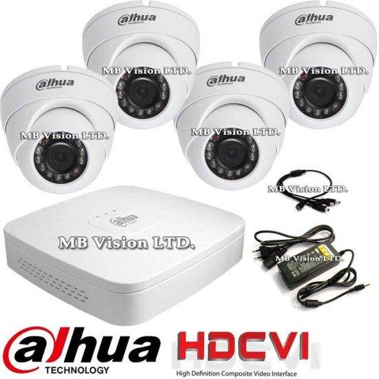 HD система за видеонаблюдение с 4 камери, ДВР