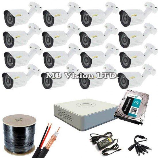 Готова HD система 16 камери, ДВР, хард диск и всичко нужно