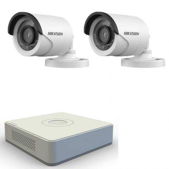 Комплект 2 HD камери, DVR Hikvision