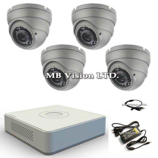 HD комплект с 4 камери и DVR Hikvision