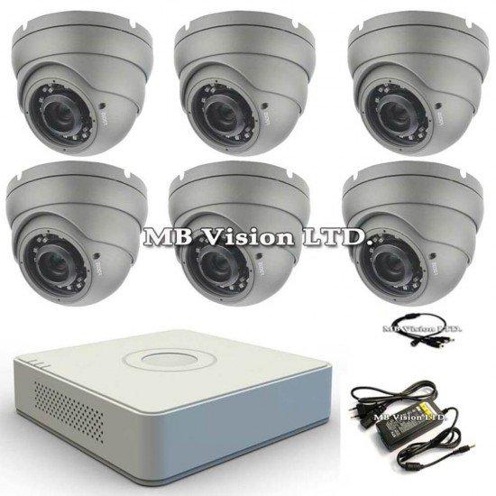 HD комплект с 6 камери и DVR Hikvision