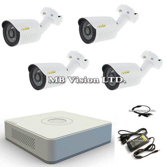 Готов HD комплект 4 охранителни камери и ДВР