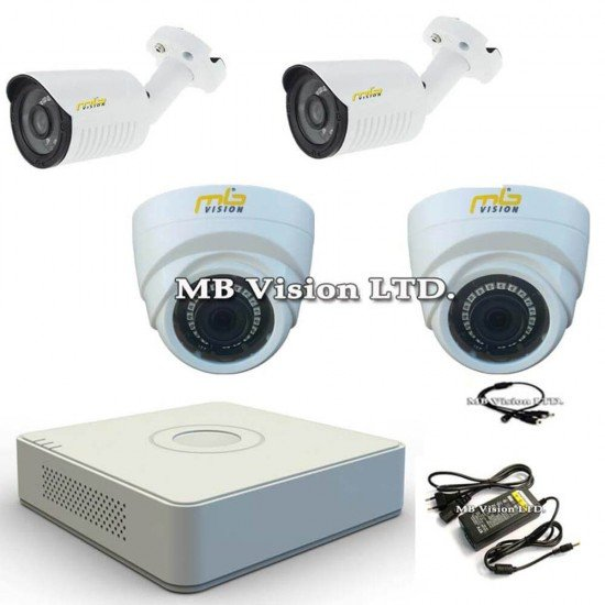 HD комплект за видеонаблюдение 4 камери и DVR